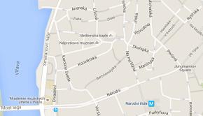 Fakulta dopravní ČVUT Praha na mapě