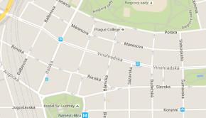 Obchodní akademie Vinohradská na mapě